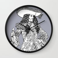 spanish Wall Clocks featuring Spanish Explorer by Tom Tierney Studios