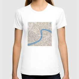 New Orleans Cobblestone Watercolor Map T-shirt