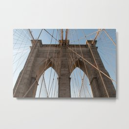 The Strength of the Brooklyn Bridge Metal Print