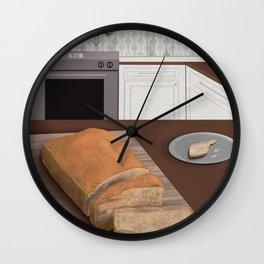 Bread for Breakfast  Wall Clock