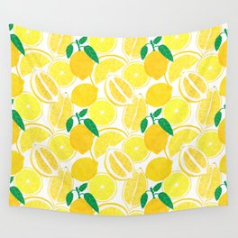 Lemon Harvest Wall Tapestry