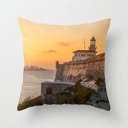 Orange Paradise Throw Pillow