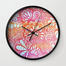 harvest print Wall Clock