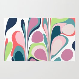 Colorful Abstract Floral Design Rug