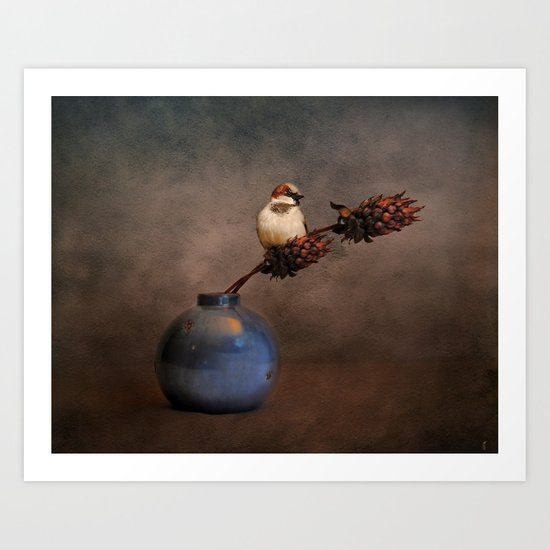 Little Sparrow Friend Art Print