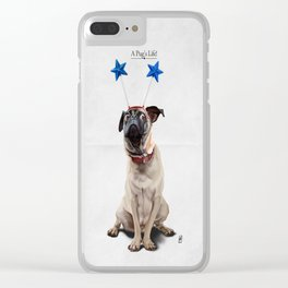 A Pug's Life Clear iPhone Case