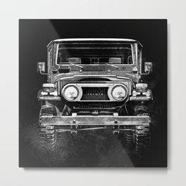 Black and White FJ40 Landcruiser Metal Print