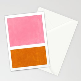 Pastel Pink Abstract Minimalist Rothko Colorful Mid Century Color Block Stationery Cards