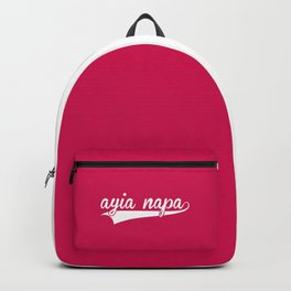 Ayia Napa EDM Quote Backpack