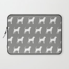 White Coonhound Silhouette Laptop Sleeve