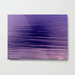 Movement of Water on a Calm Evening- Violet Abstraction Metal Print
