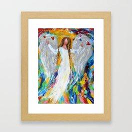 Angel and Butterflies Framed Art Print