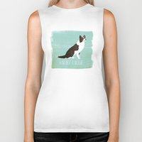 border collie Biker Tanks featuring Border Collie by 52 Dogs