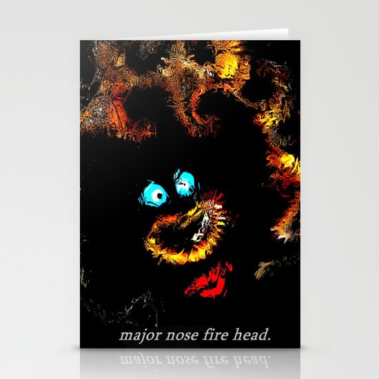 Major nose fire head. Stationery Cards