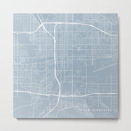 San Bernardino Map, USA - Slate Metal Print