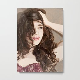 The Covergirl girl Metal Print