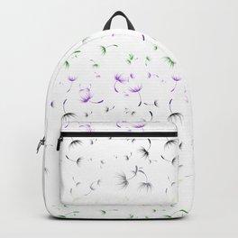 Dandelion Seeds Genderqueer Pride (white background) Backpack