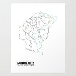 Mountain Creek, NJ - Minimalist Summer Trail Art Art Print