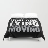 sarcasm Duvet Covers featuring Sarcasm Quote by JasmineLeflore