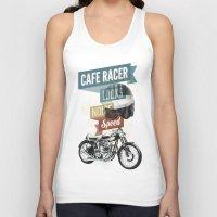 cafe Tank Tops featuring cafe racer by Liviu Antonescu