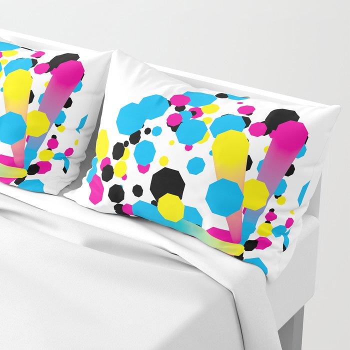 CMYK - Burst Pillow Sham