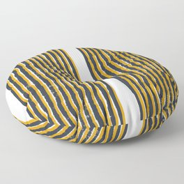 Zen Stripe Block Print Mustard Floor Pillow