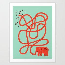 Eletrump Red Art Print
