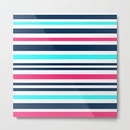 Striped multi-colored3 Metal Print
