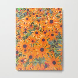 Sunny Flowers Forever Metal Print