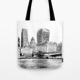 City of London Art Panorama Tote Bag