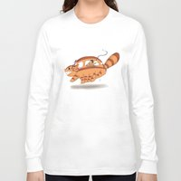 indiana jones Long Sleeve T-shirts featuring Indiana Jones Riding Catbus by Aimee Zhou