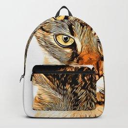 savannah cat portrait vastd Backpack