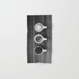 Three Coffee (Black and White) Hand & Bath Towel