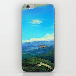 You will see me flying like a wild rain... (Me verás volar... como lluvia salvaje) iPhone Skin