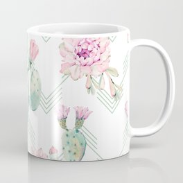 Cactus Rose Deconstructed Chevron Coffee Mug