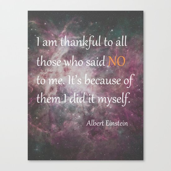 I AM THANKFUL (quote) Canvas Print