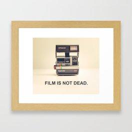 Film is not dead Framed Art Print