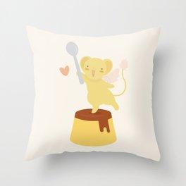 Purin Pudding Throw Pillow