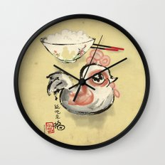 The Asian Chicken Rice Bowl Wall Clock