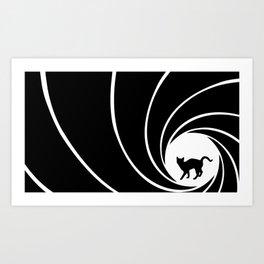Bond, Kitty Bond Art Print