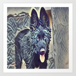 The Belgian Shepherd Art Print