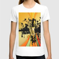 saxophone T-shirts featuring Saxophone by nicky2342