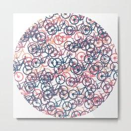 mountain bike MTB cycling mountain biker cycling bicycle cyclist gift Metal Print