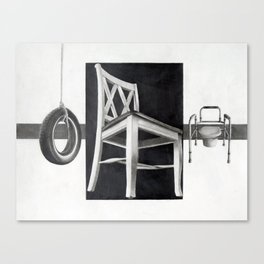 Sitting As We Age Canvas Print