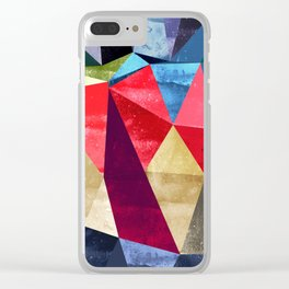 colorful pattern abstract shapes Clear iPhone Case