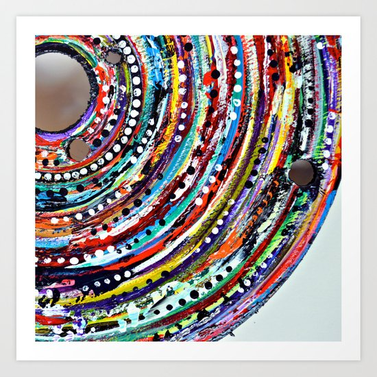 Color Vortex Art Print