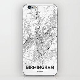 Minimal City Maps - Map Of Birmingham, Alabama, United States iPhone Skin