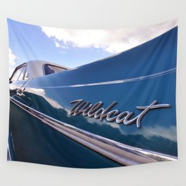 Wildcat - Classic American Blue Car Wall Tapestry