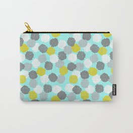 Block Printed Floral Carry-All Pouch