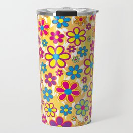 Bright Flowers Travel Mug
